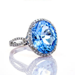Topaz engagement ring