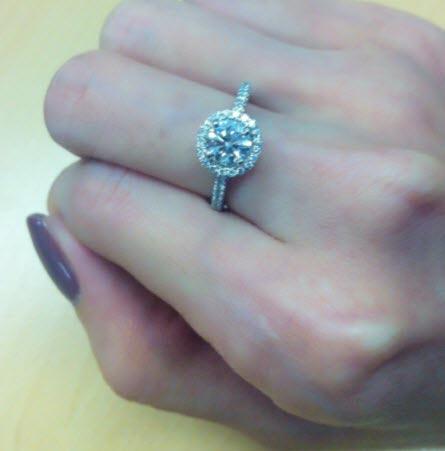 Blue Nile Halo Diamond Engagement Ring Blue Nile Round Halo Ring