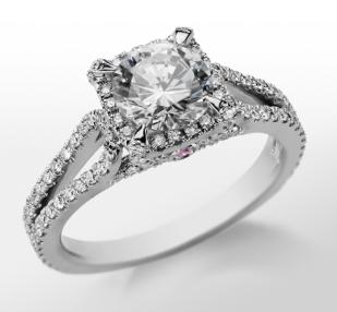 Monique Lhuillier's Halo Engagement Ring