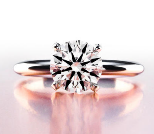 Four Prong Platinum Solitiare Engagement Ring
