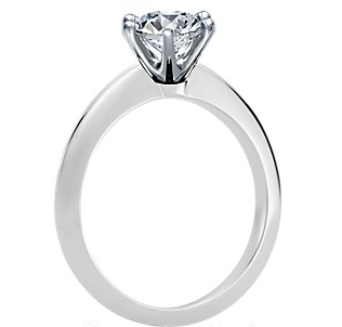 Blue Nile's Six-Prong Nouveau Knife Edge Solitaire Engagement Ring