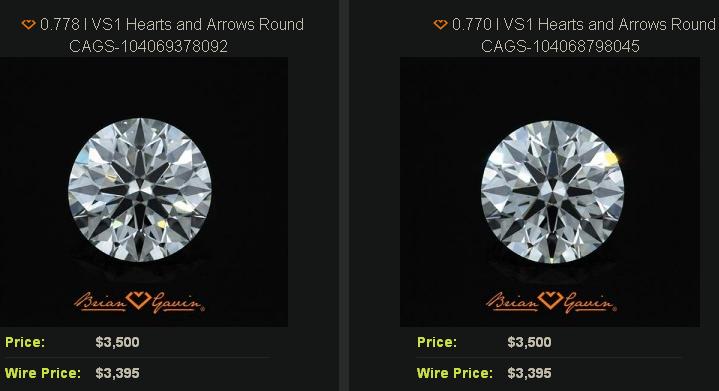 Matched Pair Diamond Stud Earrings