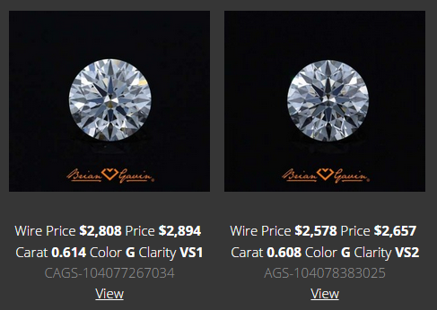 Matching Diamond Stud Pair