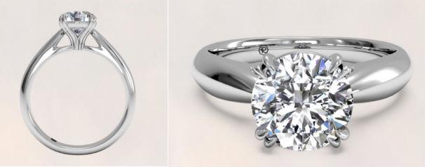 Ritani Tulip Engagement Ring