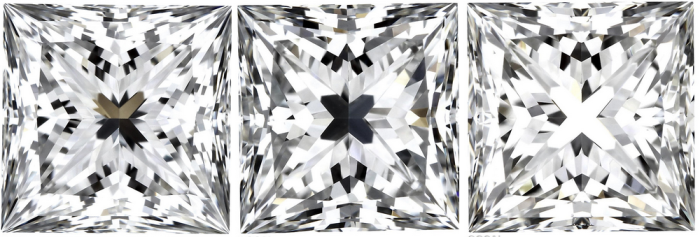 Blue Nile Signature Princess Cut Diamonds