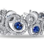 Omi Prive Sapphire and Diamond Swirl