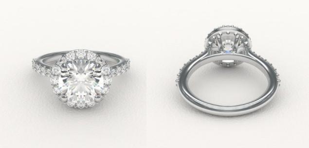 Enchanted Diamonds Round French-Set Halo