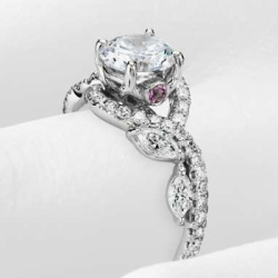 Monique Lhuillier floral engagement ring