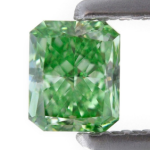 0.42 carat, Fancy Vivid Green, Radiant Shape, SI1 Clarity