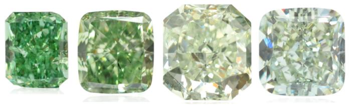 Loose Green Diamonds
