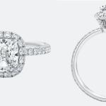 The One Cushion-Cut Diamond Micropavé Engagement Ring
