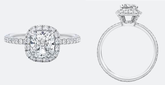 'The One' Cushion-Cut Diamond Micropavé Engagement Ring