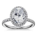 Blue Nile Studio Oval Cut Heiress Halo Diamond Engagement Ring