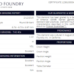 Diamond Foundry Diamond Certificate