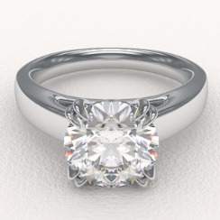claw prongs engagement ring from Enchanted Diamonds