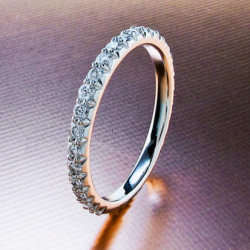 Fishtail Pave Wedding Band with H&A Melee Diamonds