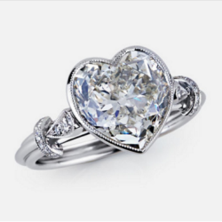 Vintage Bezel Set Heart Shaped Ring