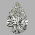 pear diamond 2.07ct I SI1