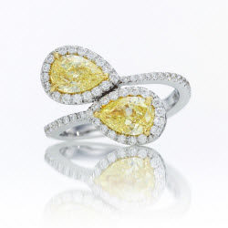 gia-certified-matching-pair-fancy-yellow-pear-diamond-halo-ring