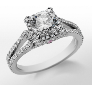 Monique Lhuillier's Halo Engagement Ring