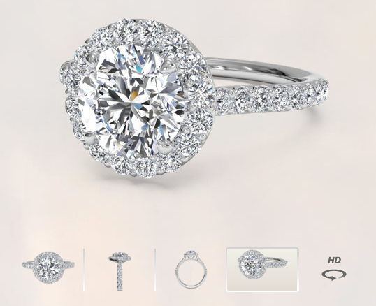 Ritani Halo Engagement Ring