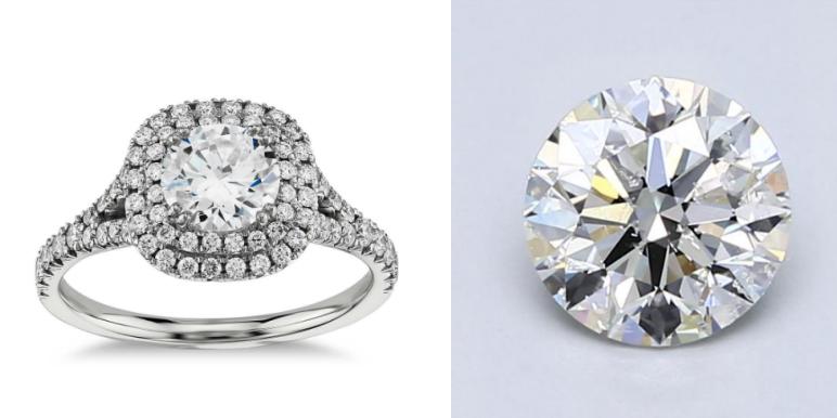 Blue Nile Double Halo Engagement Ring