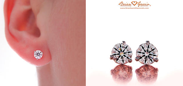 matching diamond stud earrings
