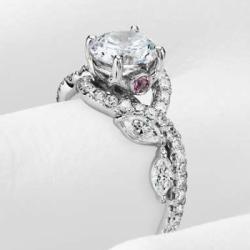 Monique Lhuillier floral engagement ring