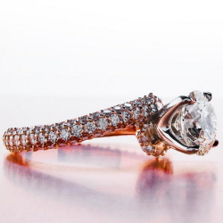 BGD's pave twist e-ring in rose gold