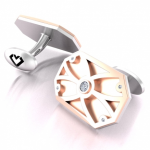 Rose Gold with White Gold Cufflinks BGD