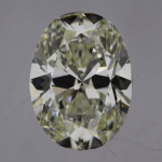 bow tie effect oval diamond