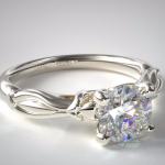 PLATINUM WRAPPED HEARTS BOMBAY ENGAGEMENT RING