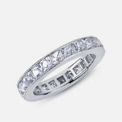 Antique French Cut Eternity Band