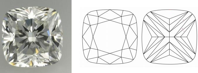 Ritani Modified Cushion Cut Diamond