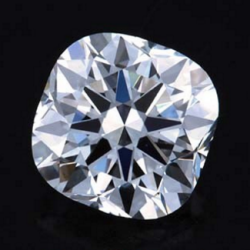 1.01ct H VS1 H&A Cushion Cut Diamond